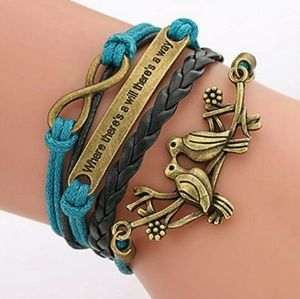Jewelry - BRAND NEW BROWN TEAL MULTI LAYER BRACELET